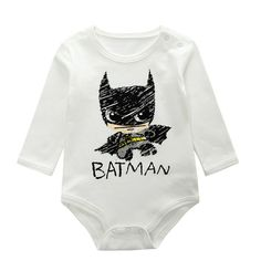 2016 bobo choses Baby Batman Romper Cartoon Batman Newborn jumpsuit fashion Girls Boy Baby Romper Brands Long Sleeve Baby Romper
