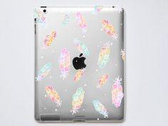 Feathers Transparent iPad Case For  iPad 2 iPad 3 iPad by CRCases