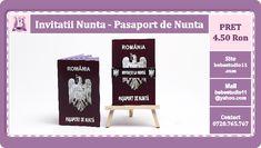 BebeStudio11.com - Invitatii Nunta si Botez: Invitatii Nunta Pasaport de Nunta Drinks, Drinking, Beverages, Drink, Beverage