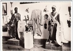 Ethnographic Arms & Armour - Period Photos of People with Ethnographic ArmsWhere: Paris Museum When: Unknown Who: Museum display of Tuareg warriors Weapons visible: spears, swords Source if known: Old French postcard