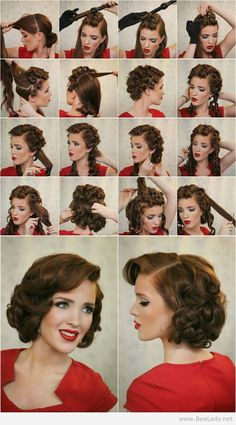 If you like the retro hairstyles just try them ! In this post, you will see 14 great vintage hairstyle tutorials.