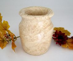 Maple Burl Vase by DebsWoodshop on Etsy, $40.00