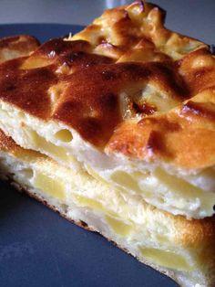 Gâteau léger pommes bananes fromage blanc comme un flan - Rachel et sa cuisine légère et gourmande