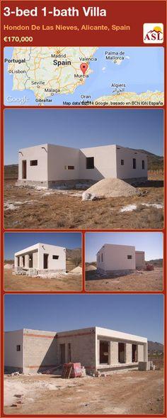 3-bed 1-bath Villa in Hondon De Las Nieves, Alicante, Spain ►€170,000 #PropertyForSaleInSpain