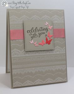 Stampin' Up! Falling For You Celebrating With You Card