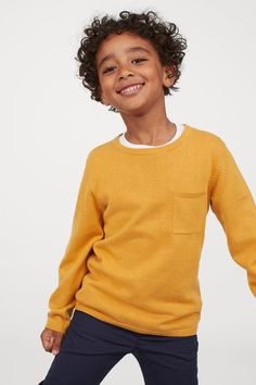 Yellow Sweater Mens, Mustard Yellow Sweater, Men Sweater, Jumper, Family Photo Outfits, Family Photos, Pocket Detail, Fashion Company, World Of Fashion