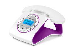 #Telefono #retro #Telecom 3606 violeta