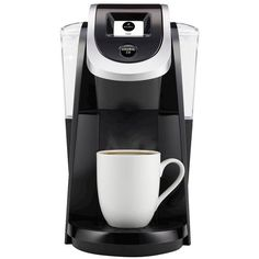 Keurig K200 Coffee Maker, Black (370 SAR) ❤ liked on Polyvore featuring home, kitchen & dining, small appliances, black, espresso coffee machine, single serve coffee brewer, black coffee maker, keurig coffee brewer and single serve coffeemakers