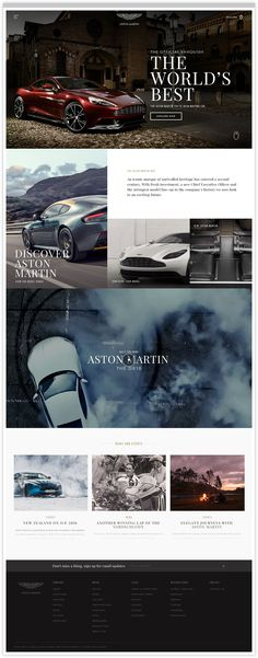 Aston Martin Homepage Web Design