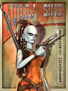 Aurra Sing Bounty Hunter by SteveAndersonDesign on deviantART