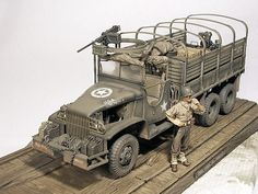 GMC 6X6 2 1/2 Ton Cargo Truck Scale Model Ships, Scale Models, Military Diorama, Military Art, Us Army Trucks, Military Action Figures, Tank Armor, Model Tanks, Model Hobbies
