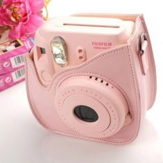 Camera Leather Case Bag Pink for Fujifilm Instax Mini 8