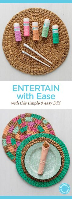 Entertain with ease with this simple and easy painted placemat DIY from Martha Stewart Crafts!