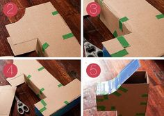 cardboard number