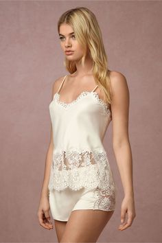 BHLDN's Flora Nikrooz Candlelight Camisole in Creme