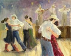 Square dance painting