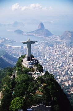 Christ the Redeemer Statue in Rio de Janeiro - Brazil. Can be seen from any point in Rio. Places Around The World, Oh The Places You'll Go, Travel Around The World, Places To Travel, Places To Visit, Around The Worlds, Dream Vacations, Vacation Spots, Destination Voyage