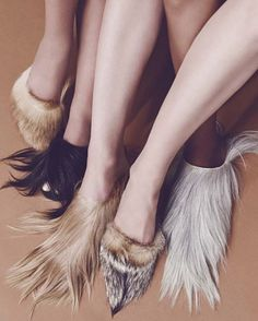 sustainable fur flats by Brother Vellies