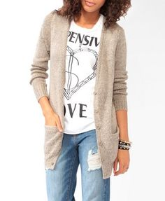 Longline Multi-Knit Cardigan | FOREVER 21 - 2087533191
