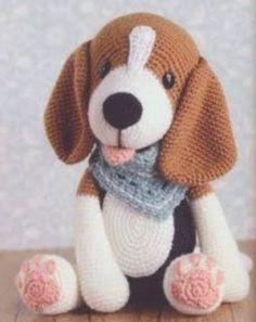 Crochet Pattern Free, Crochet Dog Patterns, Plush Pattern, Amigurumi Patterns, Amigurumi Tutorial, Tutorial Crochet, Mini Amigurumi, Amigurumi Doll, Crochet Animals