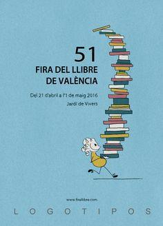 Propuesta para el concurso de carteles de la 51 Feria del libro de Valencia - Laura Rico