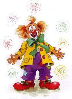 Füzesi Zsuzsa rajza (With images) Le Clown, Circus Clown, Creepy Clown, Image Cirque, Theme Carnaval, Clown Balloons, Clown Images, Clown Crafts, Fair Theme