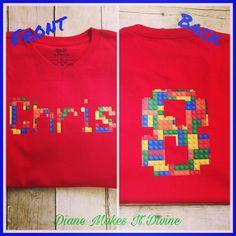 A very special shirt for a very special boy for his very special birthday. #legoshirt #legobirthday #lego #legos #legostagram #gobigeight #eigthbirthday #specialorder #customshirts #personalizedshirt #birthdayshirt #birthdayoutfit #etsy #etsyshop #etsysellerofinstagram #etsygram #homebusiness #craftymom #ootd #coachella #stayathomemom #mompreneur