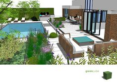 greencube garden and landscape design, UK: Garden Design with Swimming Pools
