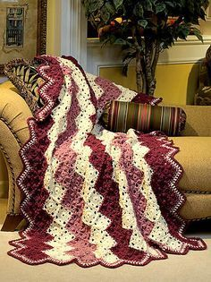 free pattern called ZigZag Afghan designed by Joyce Nordstrom. Put together like a mile a minute afghan.