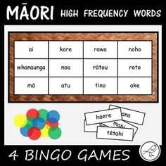This resource contains 4 different BINGO games that are made with the first 200 high frequency Māori words. Each game contains 50 words. The Games: ♦ Game 1 - words ♦ Game 2 - words ♦ Game 3 - words ♦ Game 4 - words Each Game Includes: ♦ word cards (pr. 50 Words, Spelling Words, Sight Words, School Resources, Teacher Resources, Classroom Resources, Classroom Ideas, Maori Words, Word Bingo