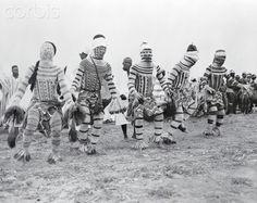 Nigerian Tribesmen Performing for Queen Elizabeth II
