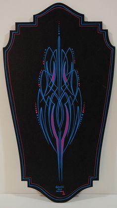 Rob Valentini Valentini Pinstriping quick panel process blue and magenta