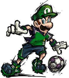 Luigi - Mario strikers Charged