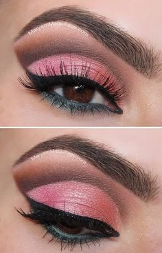 """Summer Eyes"" Cut-Crease.... Great Colors. <3"