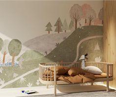 L'objet du désir : le papier peint Maison Eliza | MilK Edition Jeunesse, Illustrations, Toddler Bed, Lily, Seasons, Boutique, Paper, Painting, Design