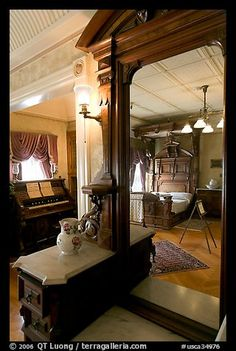 Last room of Sarah Winchester. Winchester Mystery House, San Jose, California, USA (color)