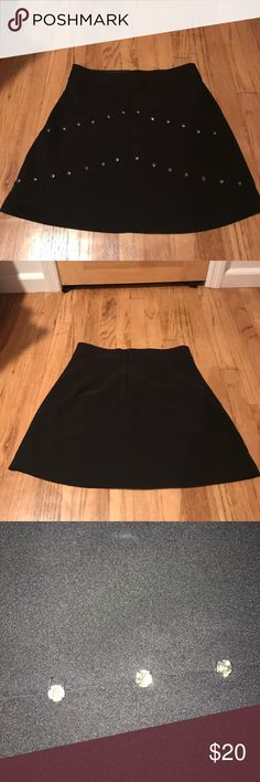 Zara Diamond Studded skirt Worn once! Super cute perfect for work or going out! Zara Skirts
