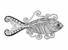 coloring pages print: Peces estilizada Zentangle. Dibujado a mano del doodle del animal. Étnico ilustración vectorial patrón. Africana,, tótem, diseño tribal indio. Boceto para avatar, para colorear, tatuajes, carteles, impresión, camiseta Vectores
