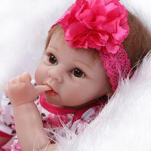 Novo produto silicone renascer baby dolls meninas brinquedos para crianças brinquedos de Natal presente de aniversário menina recém-nascidos bebês bonecas princesa(China (Mainland))