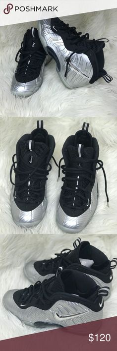 "b5d4fc3618250d Foamposite Nike "" Silver Age"" GS 6YOUTH Shoes were worn once with no  creases or"