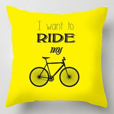 I want to ride my bicycle decorative tour de france by artylicious, £22.00