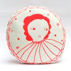 May pink cushion by Le train fantome