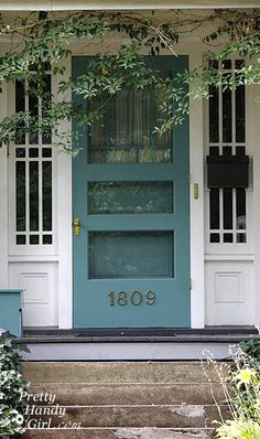 Love this color. Could I possibly paint my storm door too in same color like some of these?...