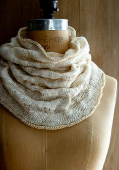 Laura's Loop: White Caps Cowl - Knitting Crochet Sewing Crafts Patterns and Ideas! - the purl bee