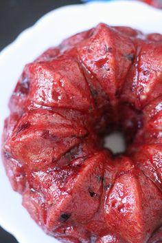 Chocolate Raspberry Bundt Cake with Raspberry Soaking Syrup