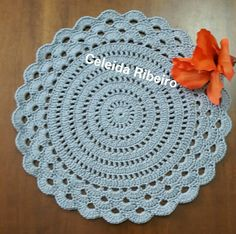 Granny Square Crochet Pattern, Crochet Chart, Crochet Motif, Crochet Doilies, Knit Crochet, Crochet Placemats, Crochet Potholders, Crochet Home, Crochet Gifts