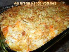 Au Gratin Ranch Potatoes - melissassouthernstylekitchen.com