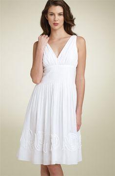 Sleeveless Rosette Hem Dress (Suzi Chin Maggy Boutique)