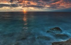 Deep blue - Mix of long exposure and HDR. Photo taken in southern Corfu, Greece.  #angeloknf #sunset #longexposure  #nature #longexpo #sea #hdr #photo #photography #clouds #sun #corfu #greece #mediterranean #horizon