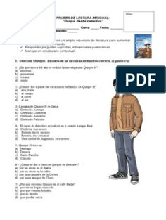 Prueba Quique Hache Detective Ideas Principales, Detective, Control, Texts, World, Private Investigator, Text Types, Being A Parent, Two Sisters